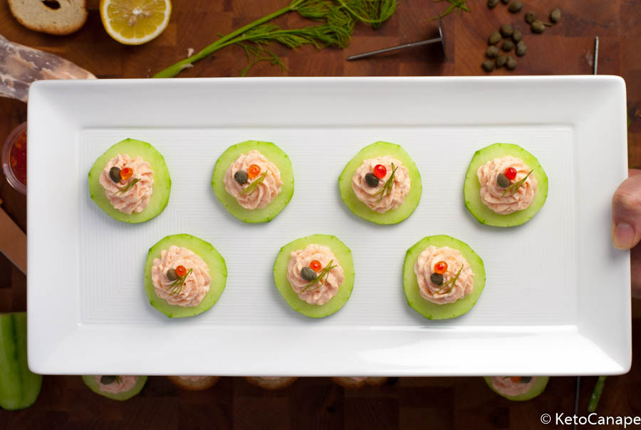 Smoked Salmon Mousse Plated