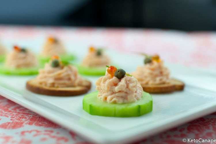 Keto Smoked Salmon Mousse Canapes
