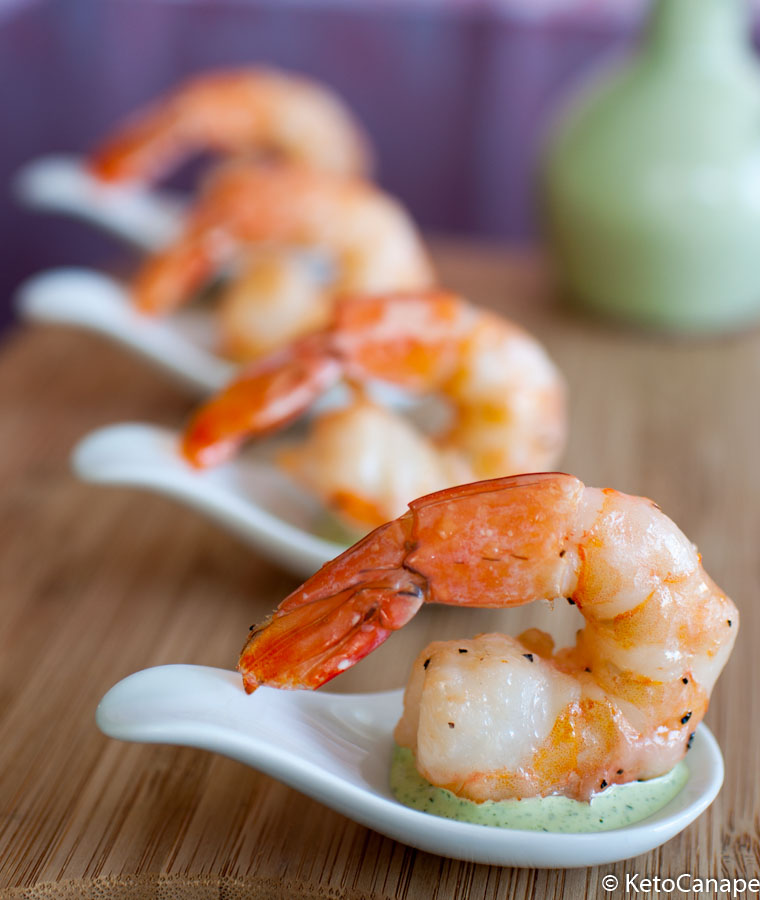 Roasted Shrimp with Tarragon Green Goddess Sauce