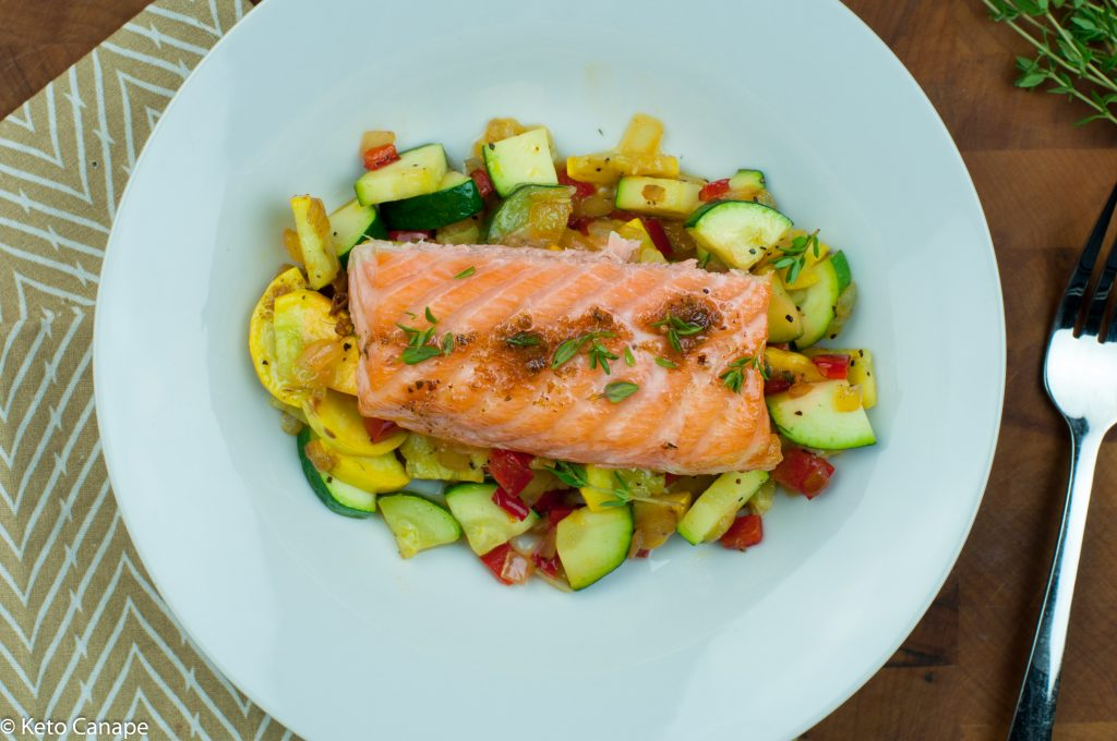 Salmon with Brown Butter Vegetables