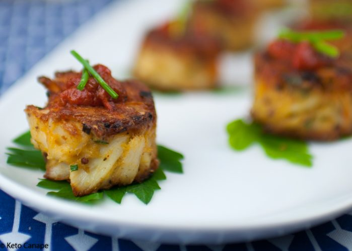 Mini Keto Crab Cakes
