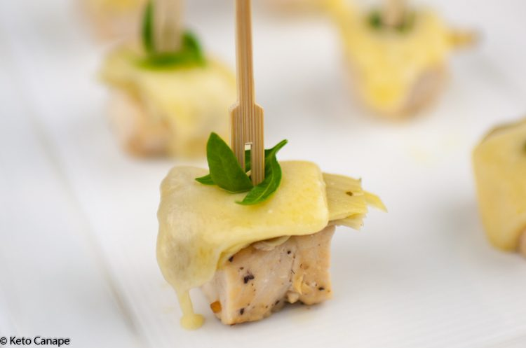 Chicken Artichoke Gruyère Canapes