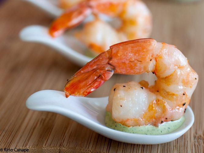 Roasted Shrimp with Tarragon Green Goddess Sauce