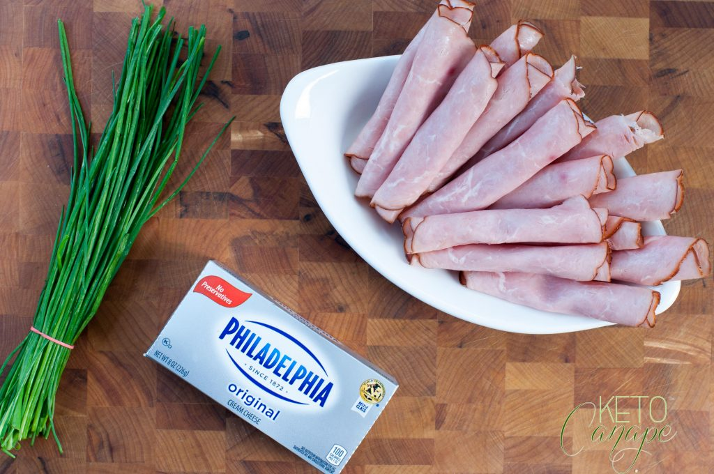 KetoCanapé Ham Cream Cheese Chive Canapé Ingredients