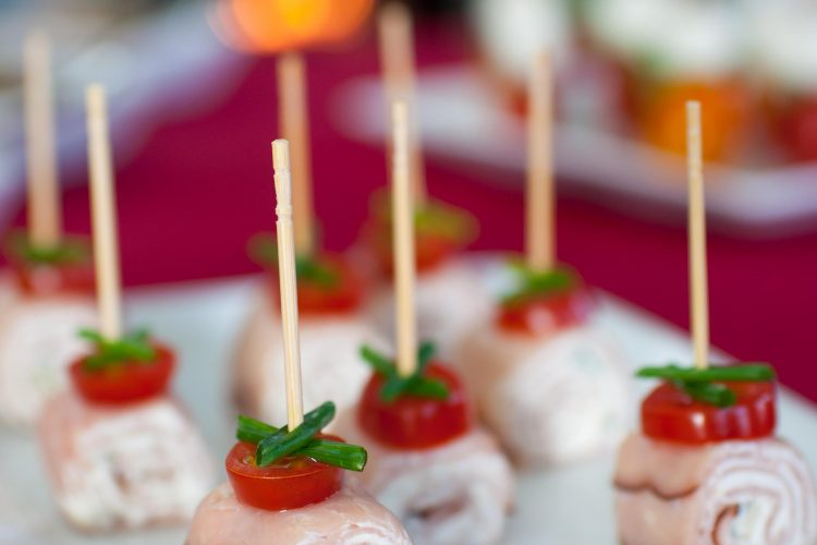 Ham Chive Cream Cheese Canapés