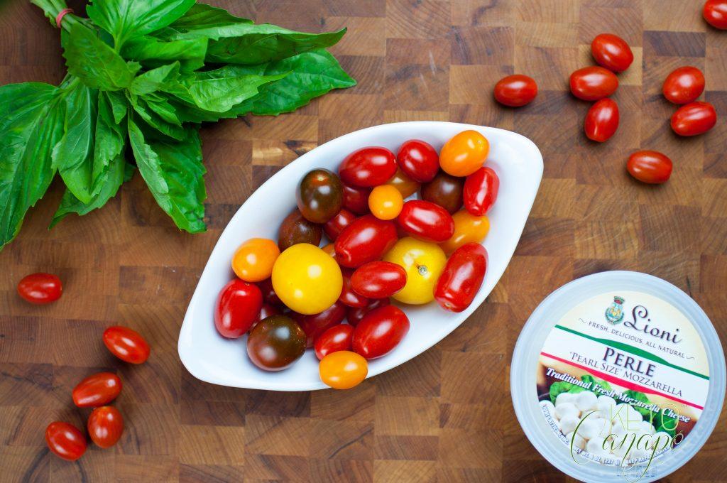 KetoCanapé Tomato Basil Mozzarella Canapé Ingredients