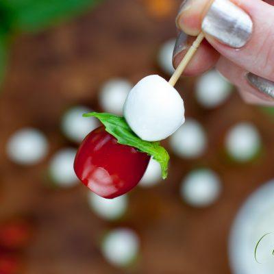 Tomato Basil Mozzarella Canapés